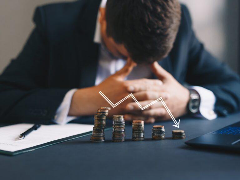 Depressed businessman lost his business